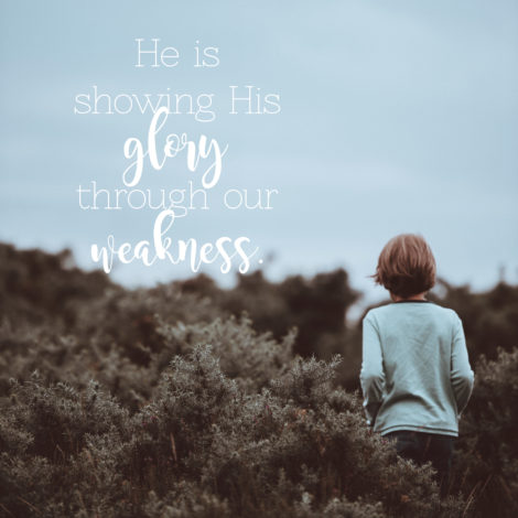 glory from weakness
